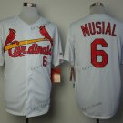 st. louis cardinals #6 stan musial 2015 Baseball Jersey Rugby Jerseys Authentic Stitched White 4