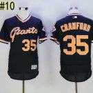 SF Giants 35 Brandon Crawford Jersey Cooperstown Base Flexbase Brandon Crawford Baseball Black 2