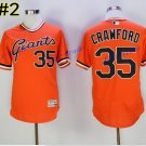 SF Giants 35 Brandon Crawford Jersey Cooperstown Base Flexbase Brandon Crawford Baseball Orange 2