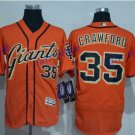 SF Giants 35 Brandon Crawford Jersey Cooperstown Base Flexbase Brandon Crawford Baseball Orange 3