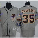 SF Giants 35 Brandon Crawford Jersey Cooperstown Base Flexbase Brandon Crawford Baseball Gray 1