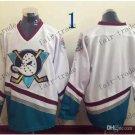 Anaheim Ducks Mighty Ducks #Blank Throwback Vintage Jersey White Hockey Jerseys Heritage Stitched