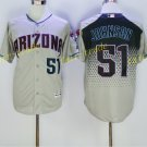 Arizona Diamondbacks 51 Randy Johnson Jersey Cooperstown Baseball Jerseys Diamondbacks Gray 1