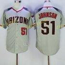 Arizona Diamondbacks 51 Randy Johnson Jersey Cooperstown Baseball Jerseys Diamondbacks Gray 3