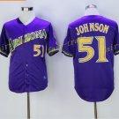 Arizona Diamondbacks 51 Randy Johnson Jersey Cooperstown Baseball Jerseys Diamondbacks Purple