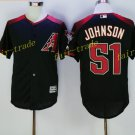 Arizona Diamondbacks 51 Randy Johnson Jersey Cooperstown Baseball Jerseys Diamondbacks Black