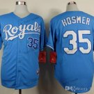 kansas city royals #35 eric hosmer 2015 Baseball Jersey Rugby Jerseys Authentic Stitched Blue 3