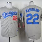 los angeles dodgers #22 clayton kershaw 2015 Baseball Jersey  Rugby Jerseys Authentic Stitched Gray