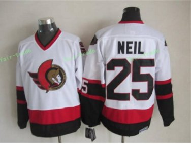 Ottawa Senators 2017 Stanley Cup Champions patch 25 Chris Neil White Jersey