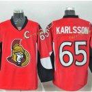 Ottawa Senators 2017 Stanley Cup Champions patch 65 Erik Karlsson Red Jersey