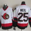 Ottawa Senators 2017 Stanley Cup Finals patch 25 Chris Neil White Jersey