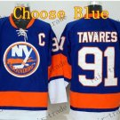 2016 Alternate New York Islanders 91 John Tavares Ice Winter Hockey Jerseys Blue