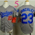 Dodgers Youth Jersey 23 Adrian Gonzalez Gray Kid Size S M L XL