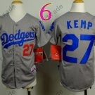 Dodgers Youth Jersey 27 Matt Kemp Gray Kid Size S M L XL