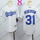 Dodgers Youth Jersey 31 Joc Pederson White Kid Size S M L XL