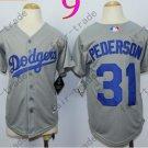 Dodgers Youth Jersey 31 Joc Pederson Gray Kid Size S M L XL