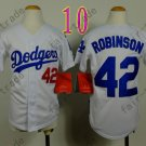 Dodgers Youth Jersey 42 Jackie Robinson white Kid Size S M L XL