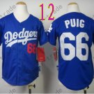 Dodgers Youth Jersey 66 Yasiel Puig Blue Kid Size S M L XL