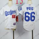 Dodgers Youth Jersey 66 Yasiel Puig White Kid Size S M L XL