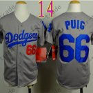 Dodgers Youth Jersey 66 Yasiel Puig Gray Kid Size S M L XL