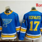Women St. Louis Blues #17 Jaden Schwartz  2017 Winter Classic Blue Hockey Jerseys Stitched