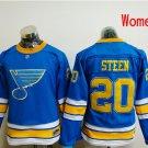 Women St. Louis Blues #20 Alexander Steen 2017 Winter Classic Blue Hockey Jerseys Stitched