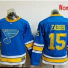 Women St. Louis Blues #15 Robby Fabbri 2017 Winter Classic Blue Hockey Jerseys Stitched