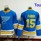 Youth St. Louis Blues  #15 Robby Fabbri 2017 Winter Classic Blue Kids  Hockey Jerseys Stitched