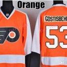 #53 shayne gostisbehere Jersey Philadelphia Flyers Home Orange Authentic Stitched Hockey Jerseys