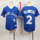 Top quanlity !Toronto Blue Jays Youth Jersey #2 Troy Tulowitzki Jerseys Blue Stitched