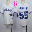 Top quanlity !Toronto Blue Jays Youth Jersey #55 Russell Martin White All Stitched