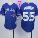 Top quanlity !Toronto Blue Jays Youth Jersey #55 Russell Martin Blue All Stitched