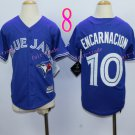 Top quanlity !Toronto Blue Jays Youth Jersey #10 Edwin Encarnacion Blue All Stitched