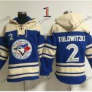 Toronto Blue Jays #2 Troy Tulowitzki Baseball Hooded Stitched Old Time Hoodies Sweatshirt Jerseys