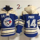 Toronto Blue Jays #14 david price Baseball Hooded Stitched Old Time Hoodies Sweatshirt Jerseys