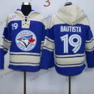 Toronto Blue Jays #19 jose bautista Baseball Hooded Stitched Old Time Hoodies Sweatshirt Jerseys