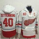 2017 Centennial Classic Hoodies Detroit Red Wings 40 Henrik Zetterberg Sweatshirt Jerseys