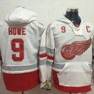 2017 Centennial Classic Hoodies Detroit Red Wings 9 Gordie Howe Sweatshirt Jerseys