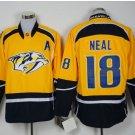 Nashville Predators #18 Neal Yellow  Hockey Jerseys Stitched
