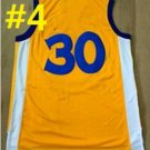 2016 Stitched Basketballl Jerseys #30 Curry Orange Rev 30 Embroidery unisex
