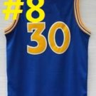 2016 Stitched Basketballl Jerseys #30 Curry Dark Blue 3 Rev 30 Embroidery unisex