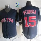 boston red sox #15 Dustin Pedroia Black 2015 Baseball Jersey Rugby Jerseys Authentic Stitched