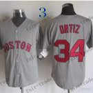 boston red sox #34 david ortiz Gray 2015 Baseball Jersey Rugby Jerseys Authentic Stitched
