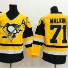 2016 Penguins Throwback Jerseys Pittsburgh 71 Evgeni Malkin Yellow