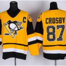 2016 Penguins Throwback Jerseys Pittsburgh 87 Sidney Crosby Yellow
