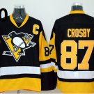 2016 Penguins Throwback Jerseys Pittsburgh 87 Sidney Crosby black