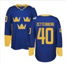 2016 World Cup Ice Hockey Sweden Jerseys 40 Henrik Zetterberg