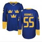 2016 World Cup Ice Hockey Sweden Jerseys 55 Niklas Kronwall