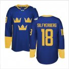 2016 World Cup Ice Hockey Sweden Jerseys  #18 Jakob Silfverberg
