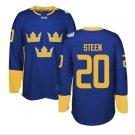 2016 World Cup Ice Hockey Sweden Jerseys  #20 Steen